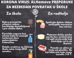 KORONA VIRUS – ALHemove PREPORUKE ZA BEZBEDAN POVRATAK U ŠKOLE